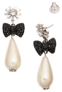 Tory Burch Tory Burch Crystal Stone Statement Earring Evie Pearl Drop