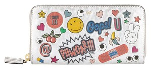 Anya Hindmarch All Over Wink Sticker Large Zip-Around Wallet