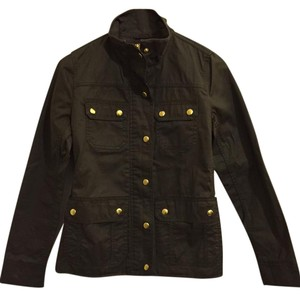 J.Crew Rain Fall Khaki Military Inspired Casual Military Jacket