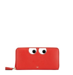 Anya Hindmarch Large Eyes Leather Zip-Around Wallet