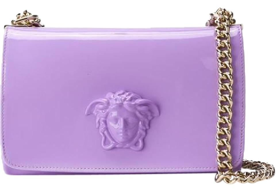 351bcbce5fbf Versace New Patent Palazzo Chain Medusa Lilac Leather Shoulder Bag ...