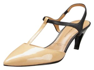 Sigerson Morrison Kitten Two-tone Slingback Patent Leather T-strap Pumps