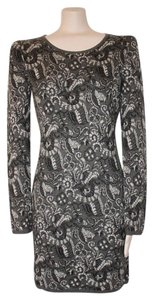 Matty M short dress gray Damask Print Medium 8 Winter on Tradesy