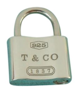 Tiffany & Co. Classic 1837 Lock Charm Pendant Sterling Silver