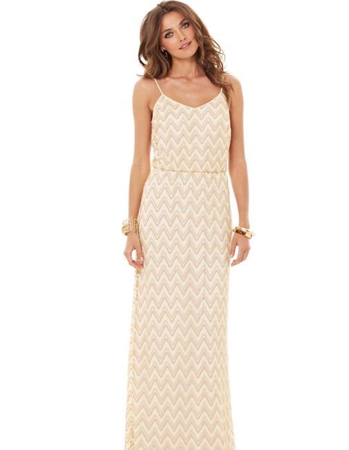 gold Maxi Dress by Lilly Pulitzer Tory Burch Bcbg Alice + Olivia Rebecca Taylor Image 1