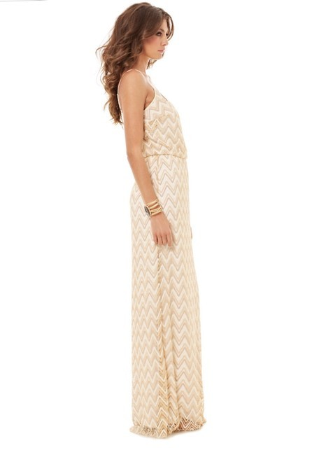 gold Maxi Dress by Lilly Pulitzer Tory Burch Bcbg Alice + Olivia Rebecca Taylor Image 2