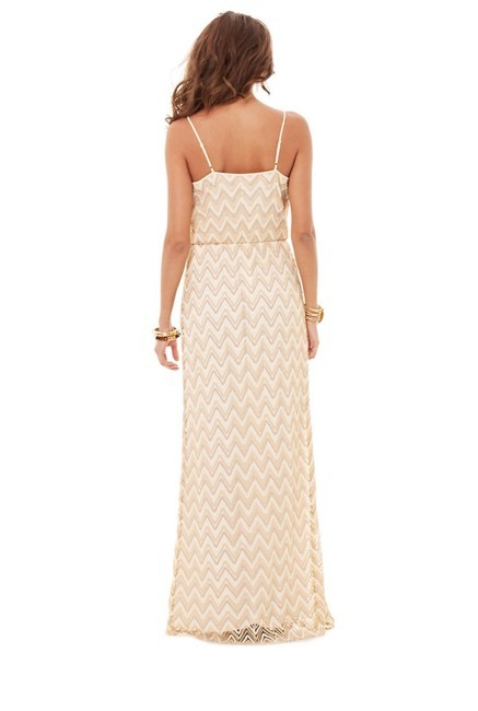 gold Maxi Dress by Lilly Pulitzer Tory Burch Bcbg Alice + Olivia Rebecca Taylor Image 3