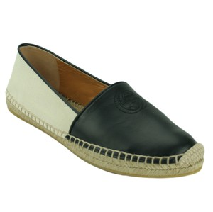 Gucci 392045 Canvas Espadrille Espadrille Black / Natural Flats