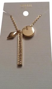 Fossil Long 3 charm necklace