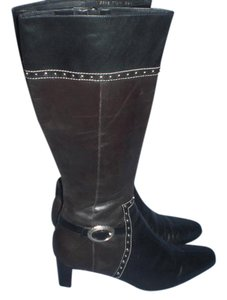 Brighton Black and brown with silver hardware Boots