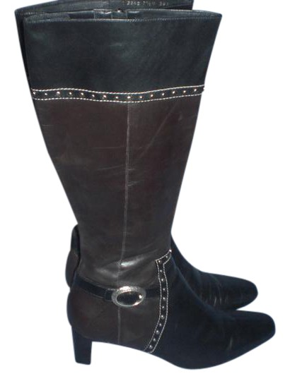 Brighton Black and brown with silver hardware Boots Image 0