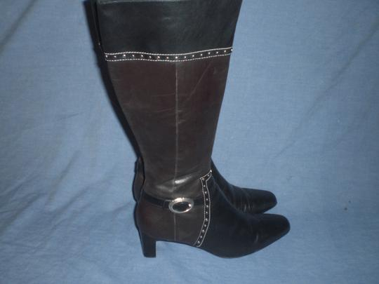 Brighton Black and brown with silver hardware Boots Image 2