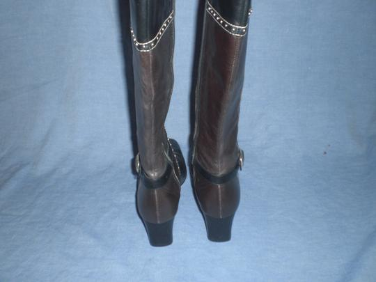 Brighton Black and brown with silver hardware Boots Image 4