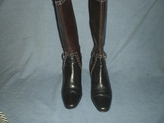 Brighton Black and brown with silver hardware Boots Image 6