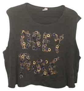 OBEY Top charcoal