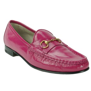 Gucci 318394 Patent Leather Loafer Loafer Flats