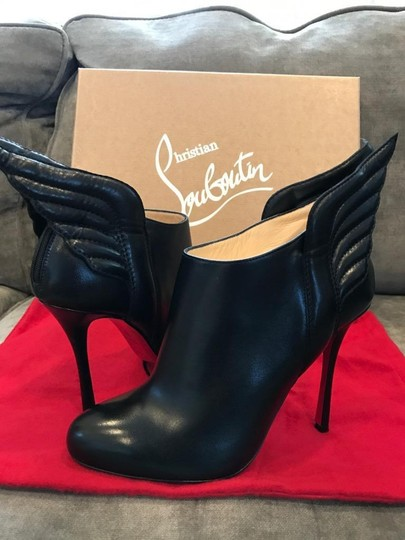 Christian Louboutin Ankle Mercura Wing Black Boots Image 5
