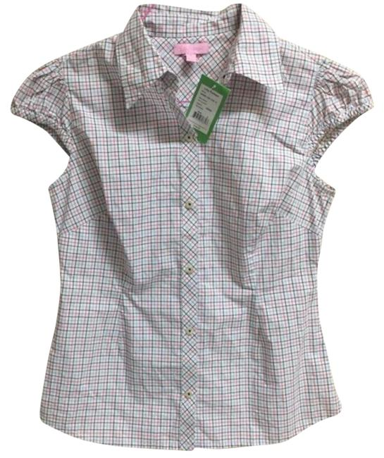 Preload https://img-static.tradesy.com/item/20465073/lilly-pulitzer-whitepink-doyle-shirt-blouse-size-4-s-0-7-650-650.jpg