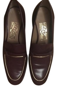 Salvatore Ferragamo Ox Blood Flats