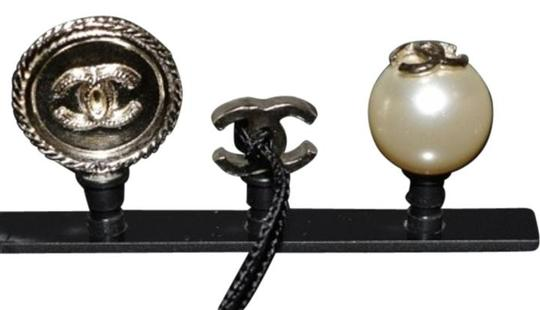 Chanel Cell Phone iPhone Dust Plugs Ear Jacks CC Logo Pearls Gold Charm Icon Image 7