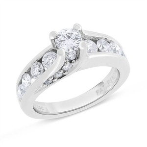 Other 1.53 Ct. Natural Floating Diamond Engagement Ring Solid 14k White Gold