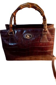 Dooney & Bourke Bamboo Satchel in Brown
