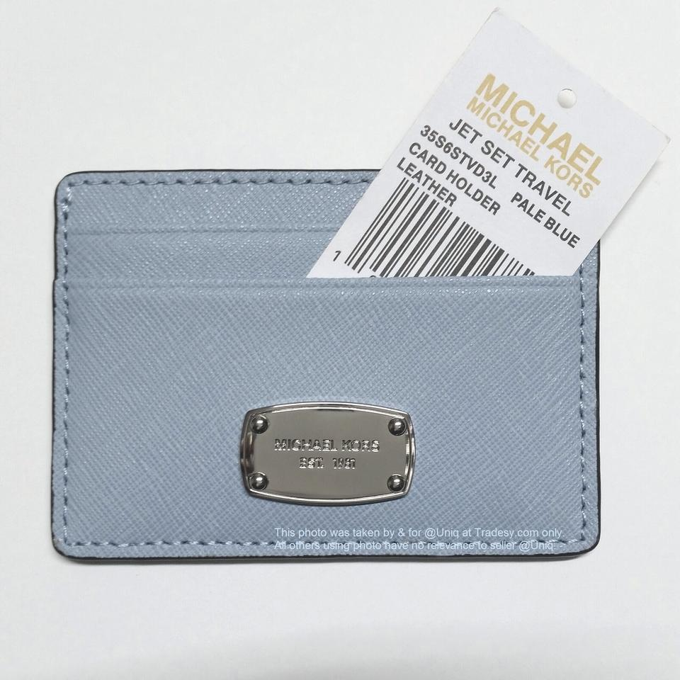 30a6f809acc2 Michael Kors NWT MK Saffiano Leather Card Case Credit Card Holder Wallet  Image 5. 123456
