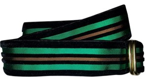 Riggs and Bancroft Riggs and Bancroft Velvet Gold Green Waist Belt Size S Kip Brass