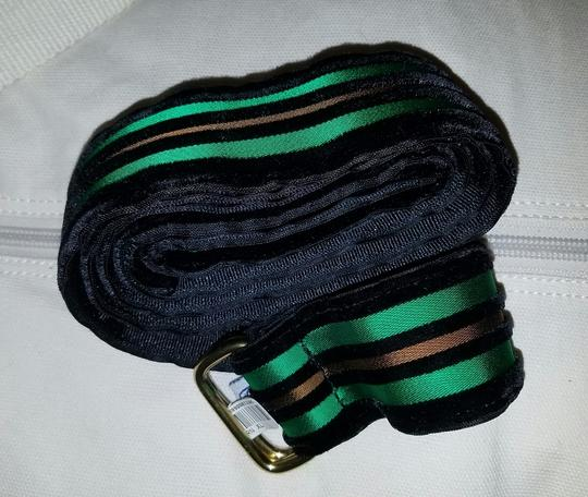 Riggs and Bancroft Riggs and Bancroft Velvet Gold Green Waist Belt Size S Kip Brass Image 4