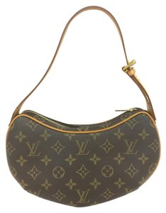Louis Vuitton Lv Monogram Croissant Pm Canvas Shoulder Bag