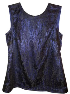 Jones Wear Night Out Club Wear Office Career Sleeveless Tank Macys Top Blue
