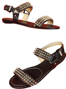Christian Louboutin Black/Silver Sandals