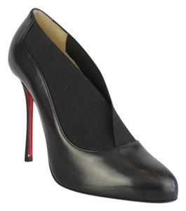 Christian Louboutin Toot Couverte Stiletto Bootie Leather Black Pumps