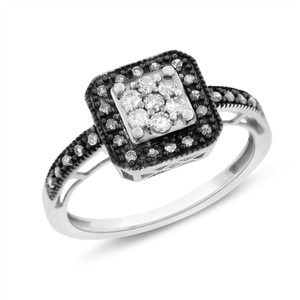 Other 0.30 Ct. Natural Diamond Halo Promise Ring In Solid 10k White Gold