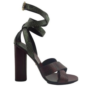 Gucci 381393 Womens Python Leather Strap Multi-Color Sandals