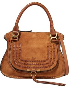 Chlo New Marcie Suede Calfskin Tote in Brown
