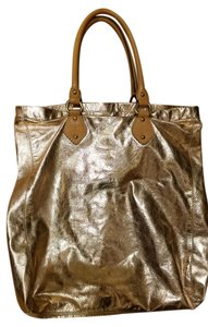 J.Crew Blue Leather Soft Tote in Rose gold