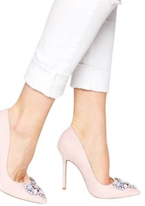 ASOS Night Out Date Night Luxury Sparkle Nude Pink Pumps