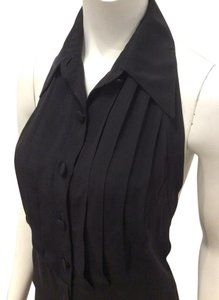 Gucci Halter Silk Backless Top Black