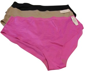 Victoria's Secret Victoria's Secret hiphugger panties Set/3 black, hot pink, nude Size L