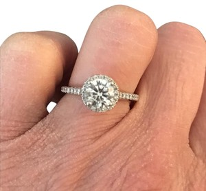 stunning Certified Halo Engagement Ring 1.35ct Halo diamond engagement ring