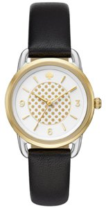 Kate Spade Kate Spade New York Women's black leather and two-tone watch KSW1162