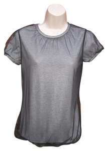 Calvin Klein Cotton Modal Mesh Cap T Shirt Gray/Black