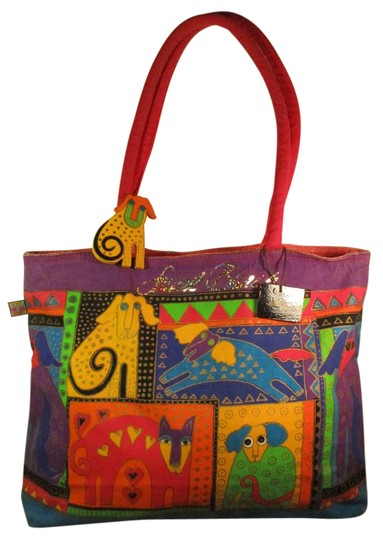 Preload https://img-static.tradesy.com/item/20466037/laurel-burch-large-cats-and-dogs-multi-color-cotton-canvas-tote-0-1-540-540.jpg