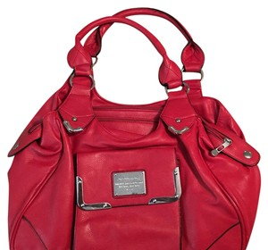 S L S Leather Satchel in Lipstick Red