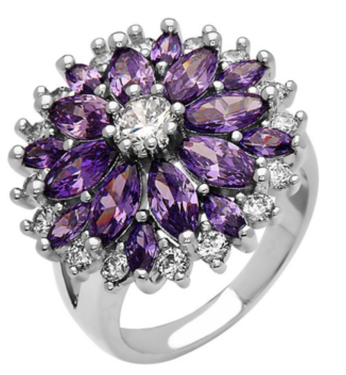 Other ** NWT ** 18K WHITE GOLD FLOWER RING Image 1