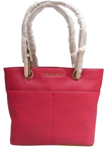MICHAEL Michael Kors Bedford Leather Pocket Tote in Red