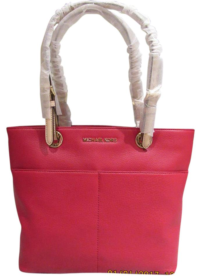 5f385b9ee7a MICHAEL Michael Kors Bedford Pocket Red Leather Tote - Tradesy