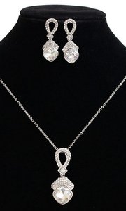 Bridal / Bridesmaid Austrian Crystal Silver Plated Jewelry Set