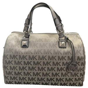 Michael Kors Satchel in Gray and Silver